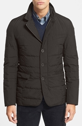 Herno Gore Tex Windstopper Waterproof Down Blazer Charcoal