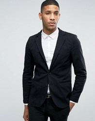 Pull And Bear Pullandbear Blazer In Black Black