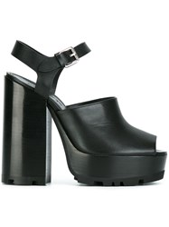 Jil Sander Open Platform Sandals Black