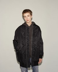 R 13 Cape Flight Jacket Black