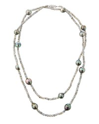 Belpearl 14K Labradorite And Pearl Necklace 40 L