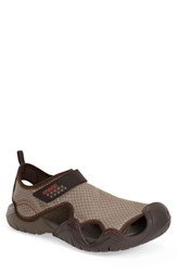 Men's Crocs 'Swiftwater' Water Shoe Sport Sandal Khaki Walnut