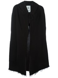 Lost And Found Rooms Long Hooded Cardigan Black