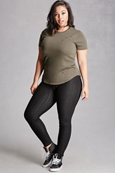 Forever 21 Plus Size Jeggings Black