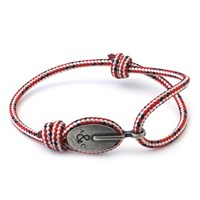Anchor And Crew Red Dash London Rope Bracelet