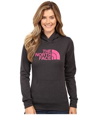 The North Face Fave Pullover Hoodie Tnf Dark Grey Heather Cabaret Pink Women's Sweatshirt Black