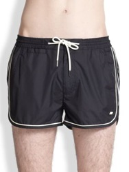 Marc By Marc Jacobs Solid Swim Trunks Black