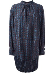 A.F.Vandevorst Geometric Print Long Length Blouse Blue