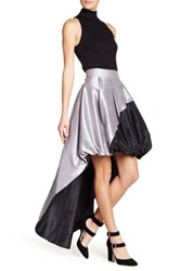 Tov Reversible Hi Lo Skirt Gray