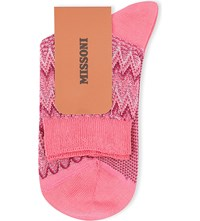 Missoni Zigzag Short Ankle Socks Pink 001