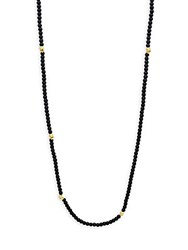 Link Up Black Onyx Beaded Necklace