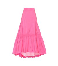 Peter Pilotto Taffeta Long Skirt Pink