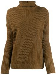 Pringle Of Scotland Travelling Ribbed Jumper Green