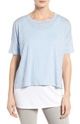 Eileen Fisher Women's Organic Linen Jersey Tee Morning Glory