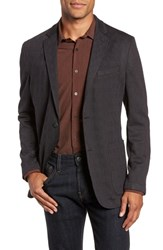 Vince Camuto Slim Fit Stretch Knit Blazer Charcoal Check