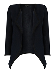 Tara Jarmon Waterfall Knit Jacket Navy