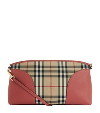 Burberry Shoes And Accessories Small Chichester Horseferry Check Cross Body Bag Female Pink