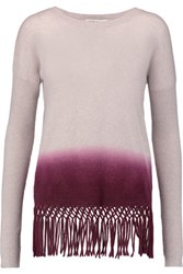 Autumn Cashmere Fringed Dip Dyed Sweater Burgundy
