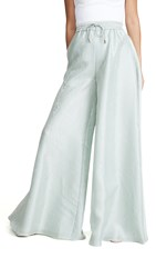 Brandon Maxwell Gown Pants Barely Green