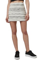 Women's Topshop Stripe Boucle A Line Miniskirt Cream Multi