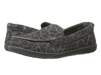 Crocs Walu Leopard Leather Loafer Light Grey Graphite Women's Shoes White