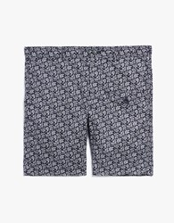 Engineered Garments Ghurka Short In Navy Paisley Dark Navy