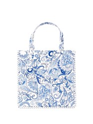 Maryam Nassir Zadeh Paisley Print Braided Bag 60