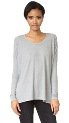 Wildfox Couture Alana Long Sleeve Top Heather Thermal