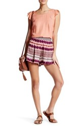 Jessica Simpson Soft Pleated Short Red
