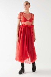 Nicopanda Uo Billy Sheer Maxi Dress Red