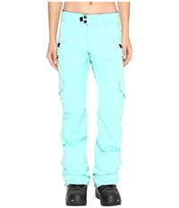 686 Authentic Mistress Insulated Cargo Pants Dusty Aqua Women's Casual Pants Blue