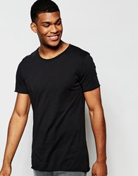 Junk De Luxe Raw Edge Organic T Shirt Black