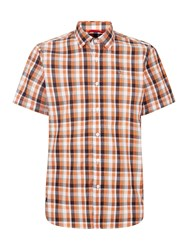 Victorinox Schimbrig Short Sleeve Shirt Amber