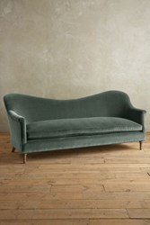 Anthropologie Velvet Pied A Terre Sofa Wilcox Duck Egg