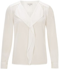 Austin Reed Ivory Frill Lapel Blouse