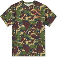 Off White Camouflage Tee Green