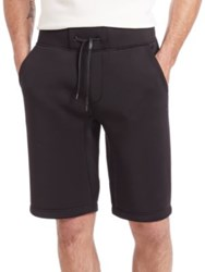 Saks Fifth Avenue X Anthony Davis Solid Neoprene Shorts Caviar
