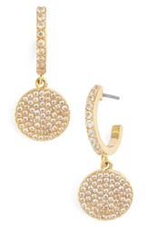 Kate Spade Women's New York Shine On Pave Drop Earrings Gold Clear