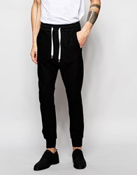 Black Eye Collective Joggers In Slim Fit With Tapered Ankle Black