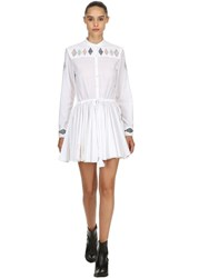 Zadig And Voltaire Embroidered Cotton Voile Dress White