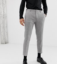 Heart And Dagger Slim Fit Suit Trouser In Grey Herringbone