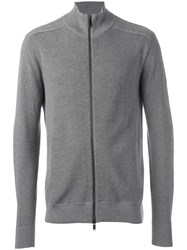 Michael Kors Zipped Cardigan Grey