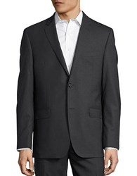 Lauren Ralph Lauren Wool Two Button Jacket Charcoal