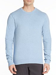 Michael Kors Cashmere Paneled Sleeve Sweater Mystic Blue
