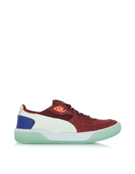 Mcq Alexander Mcqueen X Puma Syrah And Transparent Yellow Mcq Brace Low Top Men's Sneaker Burgundy