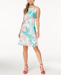 Nine West Printed A Line Dress Atlantis Multi