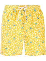 Mc2 Saint Barth Crayfish Printed Swim Shorts Yellow