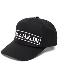 Balmain Embroidered Logo Cap Black