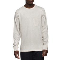 Universal Works Sand Long Sleeve Pocket T Shirt Grey