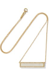Jennifer Meyer 18 Karat Gold Mother Of Pearl And Diamond Necklace Gold White